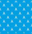 china food pattern seamless blue vector image vector image