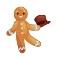 christmas cookies gingerbread man decorated with vector image vector image