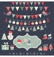 Christmas elements set vector image