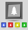 Christmas tree sign icon Holidays button Set of vector image