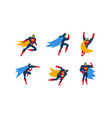 collection of superheroes superman character in vector image vector image