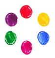 Color acrylic round spots vector image vector image