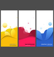colored business banners or brochure templates vector image