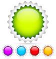 colorful badges starburst flash shapes vector image