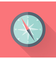 Compass flat icon pink and blue vector image
