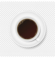 cup of coffee on transparent background vector image