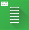 cupboard furniture icon business concept vector image