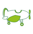 cute airplane flying icon vector image vector image