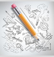 education science concept pencil sketch vector image