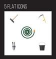 flat icon dacha set of harrow pail pump and vector image vector image