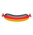 german sausage isolated traditional meat delicacy vector image