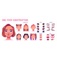 girl face construction avatar creation with parts vector image