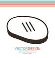 grill icon design vector image vector image
