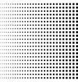 halftone black squares repeat straight squares vector image