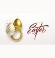 happy easter lettering background with 3d vector image vector image