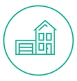 House with garage line icon vector image vector image
