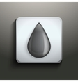 Ink button with black drop vector image vector image