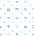 insect icons pattern seamless white background vector image vector image