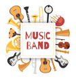jazz music band banner with musical instruments vector image vector image