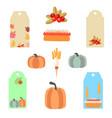 labels autumn set of vegetables vector image vector image