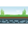 landscape fields and trees vector image vector image