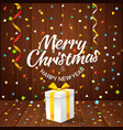 merry christmas greeting card greeting card with vector image vector image
