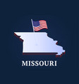 missouri state isometric map and usa national vector image vector image