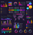 modern website dashboard infocharts with vector image vector image