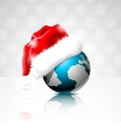 on a christmas theme with globe vector image vector image