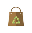 paper shopping bag recycle green energy icon vector image