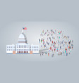 people group near capitol building united states vector image vector image