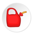 Plastic canister of gasoline icon cartoon style vector image vector image
