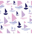 purple pink tribal boats repeat pattern design vector image vector image