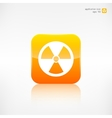 Radiation danger icon vector image vector image