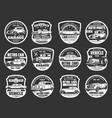 retro cars service motor show symbols vector image vector image
