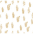 seamless pattern background with simple leaves vector image