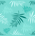 seamless pattern with the green tropical leaves vector image