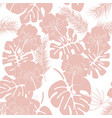seamless tropical pattern with pink monstera vector image vector image