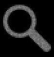 search halftone icon vector image vector image