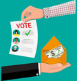 selling vote for election vector image