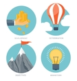 set Flat business concept vector image