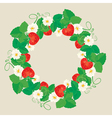 strawberry circle 3 380 vector image vector image