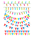 Strings of holiday lights and birthday flags white vector | Price: 1 Credit (USD $1)