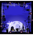 template halloween holiday pumpkin cemetery vector image vector image