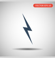 thunder icon in flat style vector image