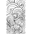 Vertical curly waves pattern for app or web design vector image vector image