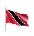 waving flag of trinidad vector image vector image