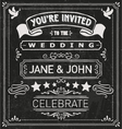 Wedding Invite Elements vector image vector image
