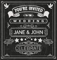 Wedding Invite Elements vector image