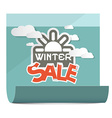 Winter Sale on Paper Sheet Isolated on White vector image